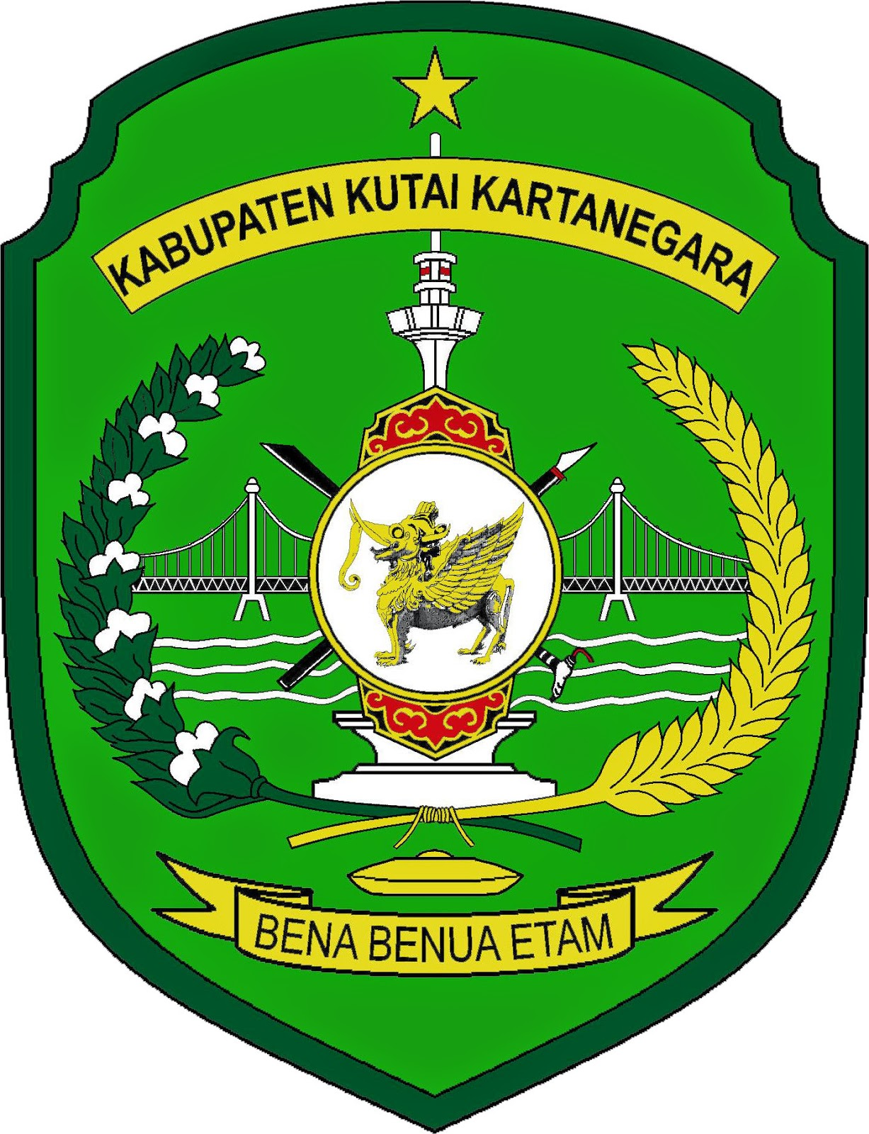 Logo Kabupaten Kutai Kartanegara, Kalimantan Timur