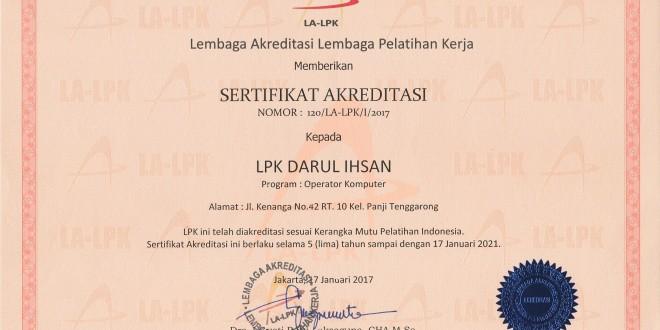 LKP. Darul Ihsan Lembaga Kursus Terakreditasi